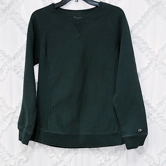 Champion Reverse Weave Green Sweatshirt Medium